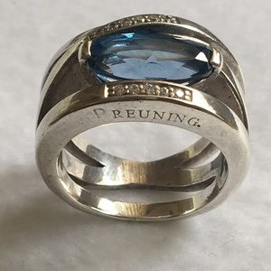 Magnificent Estate Breuning Sterling Silver Ring